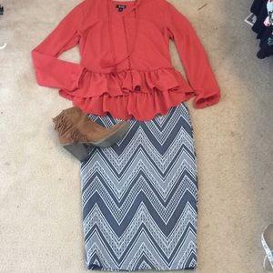 Dresses & Skirts - Chevron pencil skirt!
